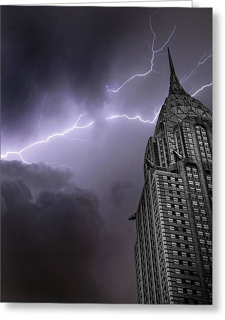 Chrysler Building Greeting Card by Martin Newman