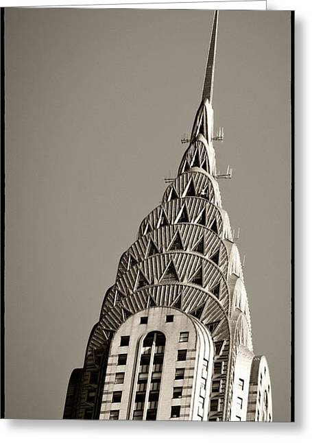 Greeting Card featuring the photograph Chrysler Building New York City by Juergen Held