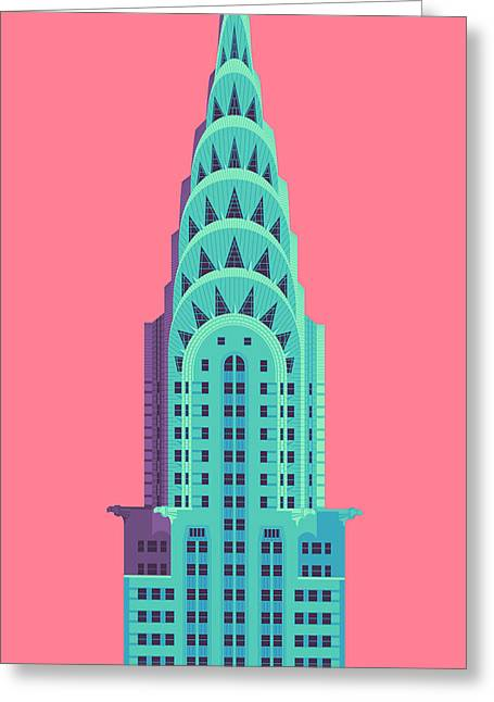 Chrysler Building - Red Greeting Card