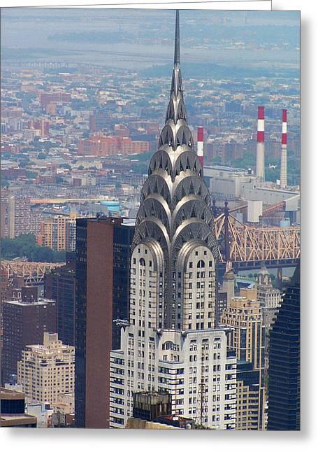 Chrysler Building Greeting Card by Vijay Sharon Govender
