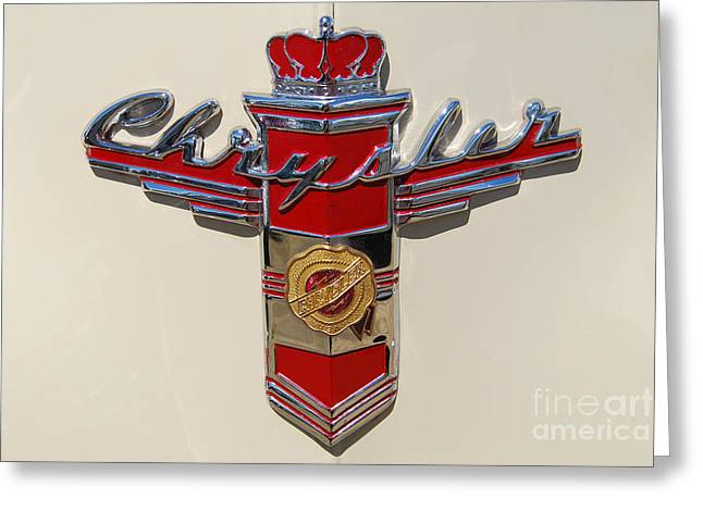 Chrysler Hood Logo Greeting Card