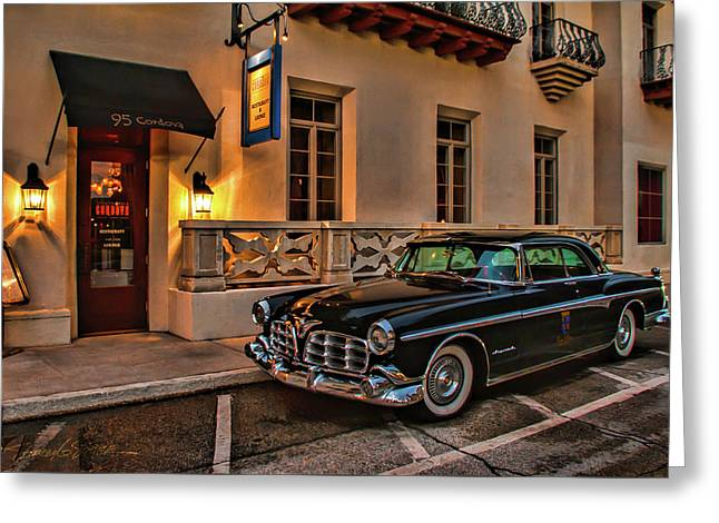 Chrysler Imperial Casa Monica Hotel Greeting Card