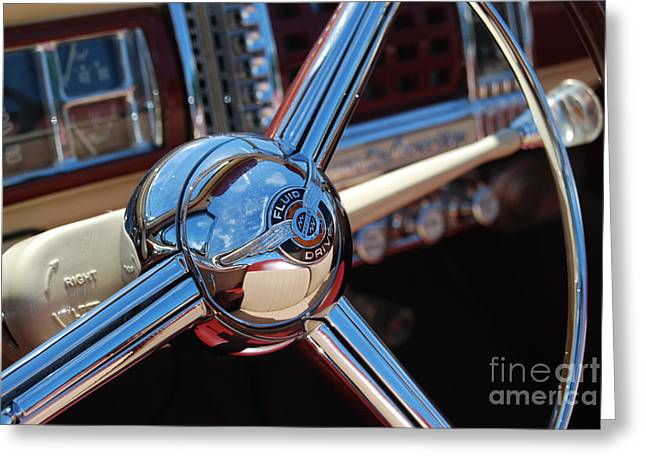 Chrysler Town And Country Steering Wheel Greeting Card by Larry Keahey