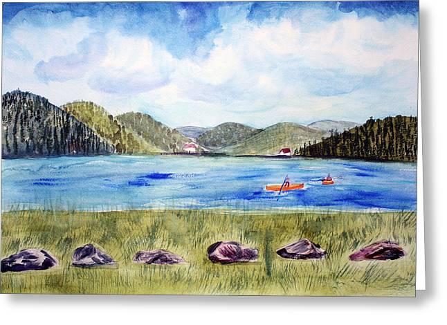 Chrystal Lake  Barton Vt  Greeting Card by Donna Walsh