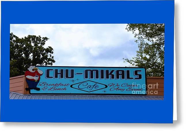 Chu - Mikals - Friendly Austin Texas Charm Greeting Card by Ray Shrewsberry