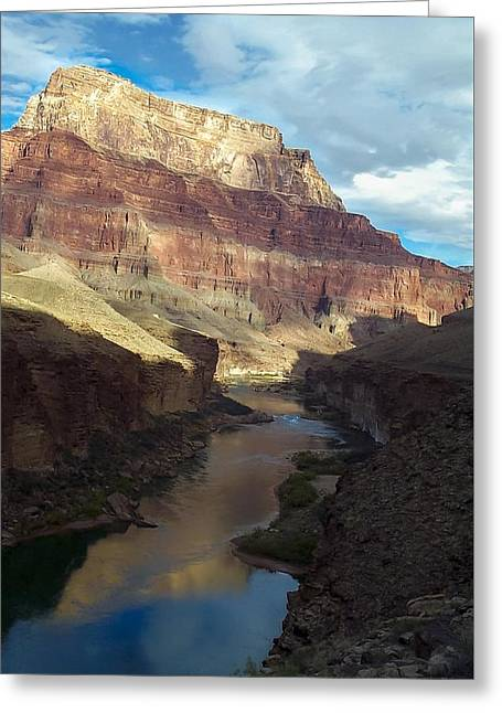 Chuar Butte Colorado River Grand Canyon Greeting Card