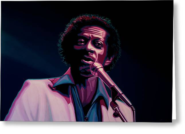 Chuck Berry Greeting Card by Paul Meijering