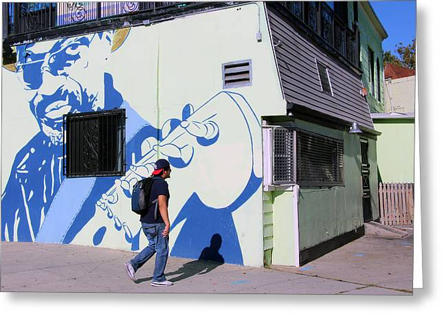 Chuck Brown Mural -- The Godfather Of Go Go Greeting Card by Cora Wandel