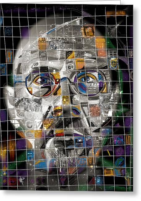 Chrome Mixed Media Greeting Cards - Chuck Close Greeting Card by Russell Pierce