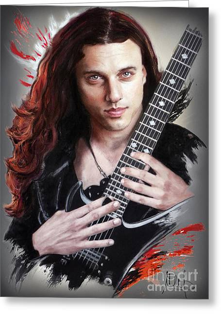 Chuck Schuldiner Greeting Card by Melanie D