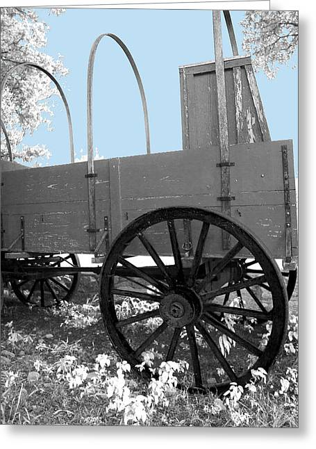 Chuck Wagon Against Blue Skys Greeting Card by Walter E Koopmann