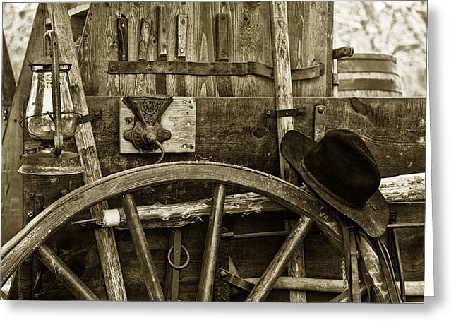 Chuck Wagon Tools Of The Trade Greeting Card by Toni Hopper