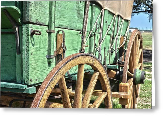 Chuck Wagon Wheels Greeting Card