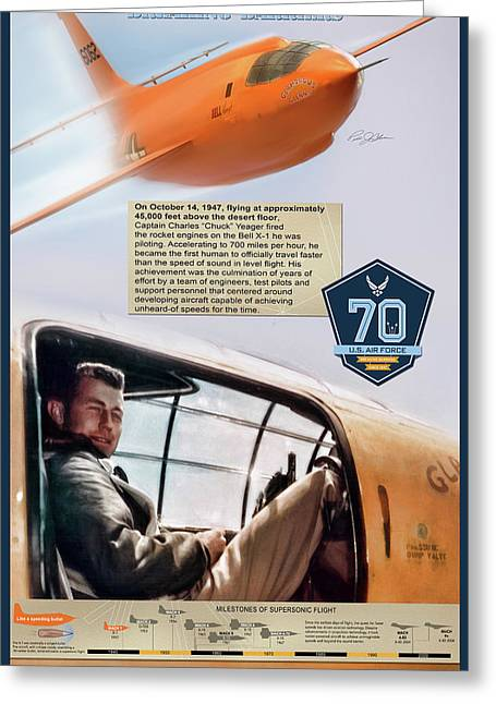Chuck Yeager Breaking Barriers Greeting Card