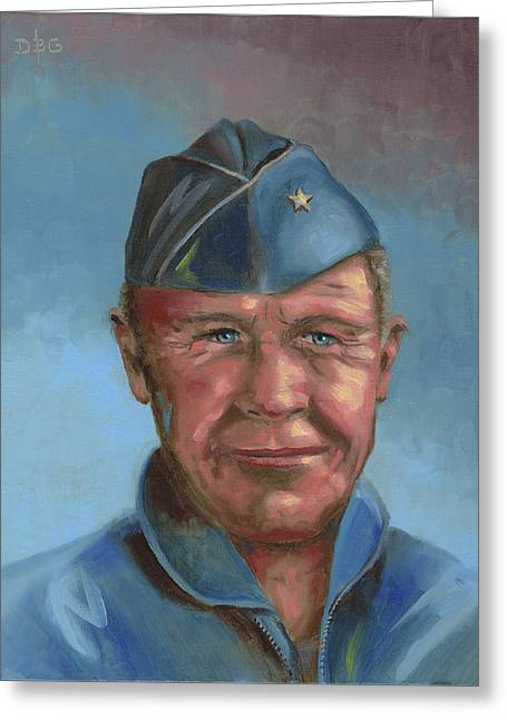 Chuck Yeager Greeting Card