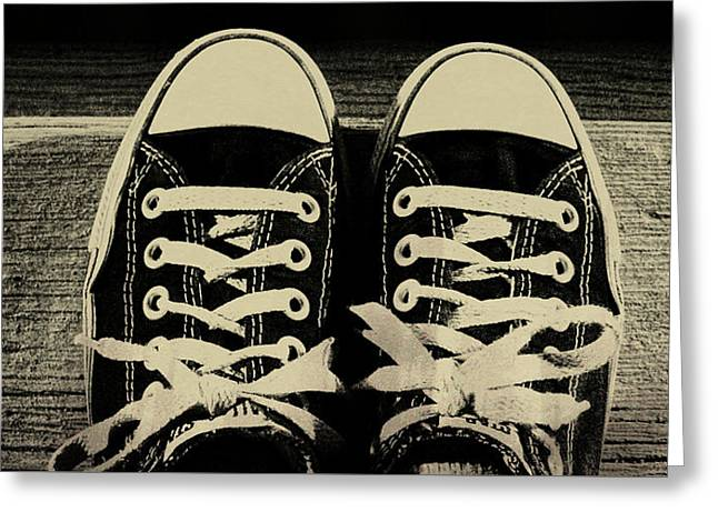 Vintage Chucks  Greeting Card by JAMART Photography