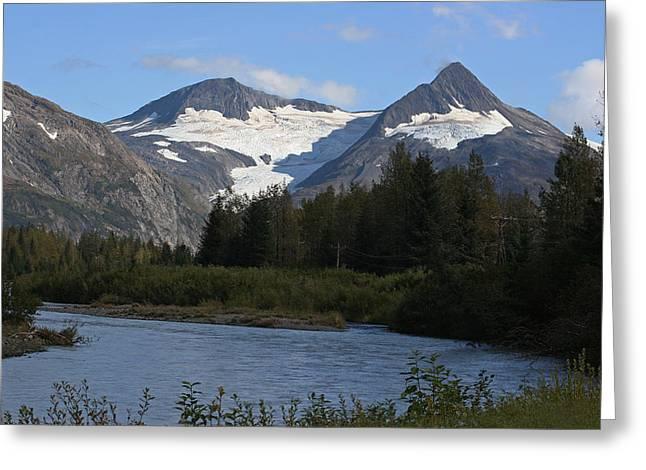 Chugach Mountains Greeting Card by Dave Clark