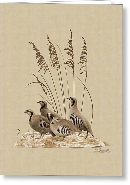 Chukar Partridges Greeting Card