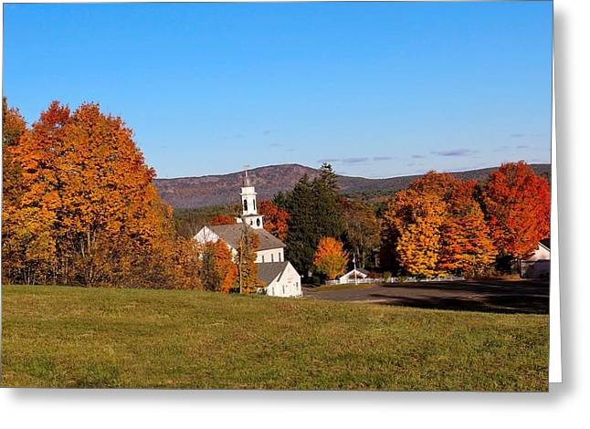 Church And Mountain Greeting Card