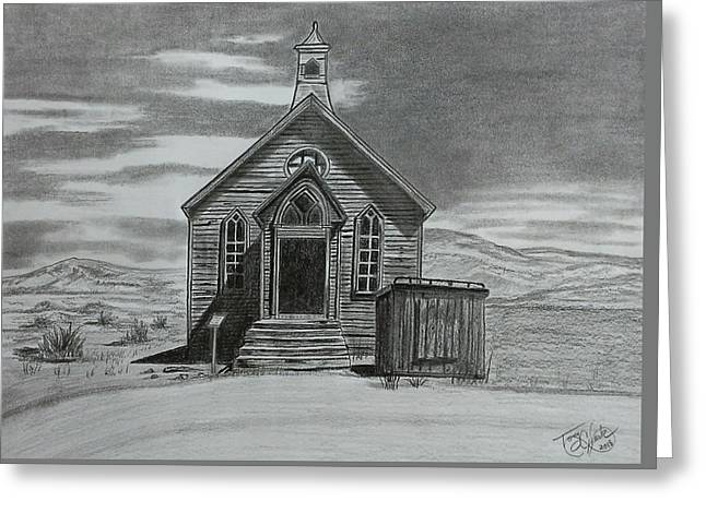 Church  At Bodie  Greeting Card