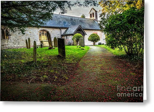 Church Berries Greeting Card by Adrian Evans