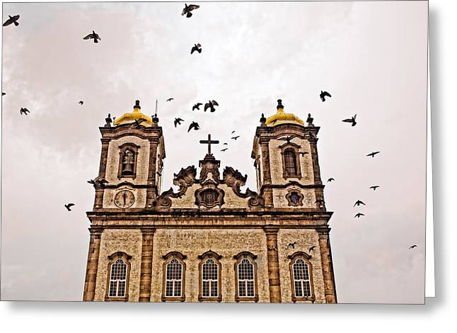 Greeting Card featuring the photograph Church Birds by Kim Wilson