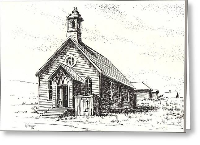Church Bodie Ghost Town California Greeting Card by Kevin Heaney