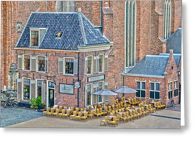 Greeting Card featuring the photograph Church Cafe In Groningen by Frans Blok