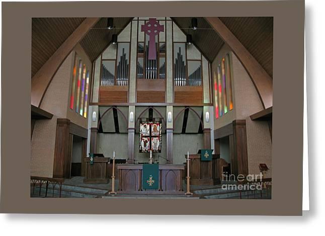 Church Chancel Greeting Card by Ann Horn