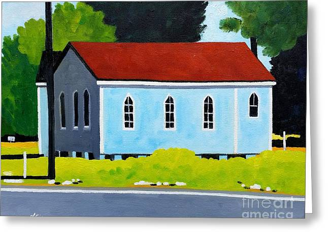 Church, Dailsville Rd Greeting Card by Lesley Giles