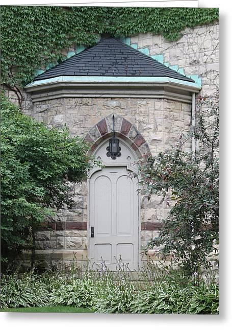 Church Door Greeting Card by Lauri Novak