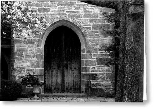 Church Door Greeting Card by Michael L Kimble