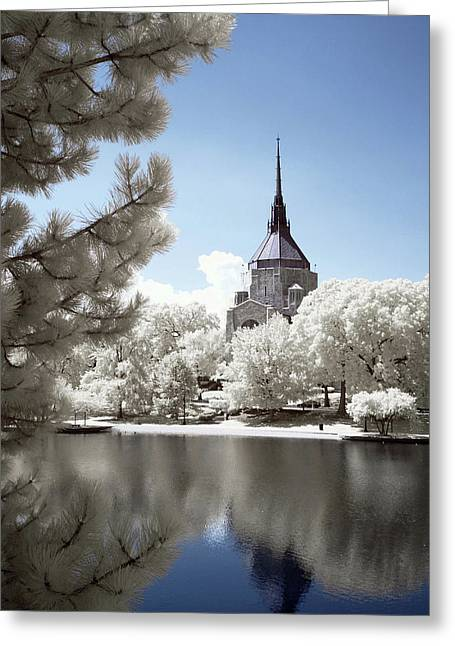 Church From Mlk Boulevard Greeting Card by Bob LaForce