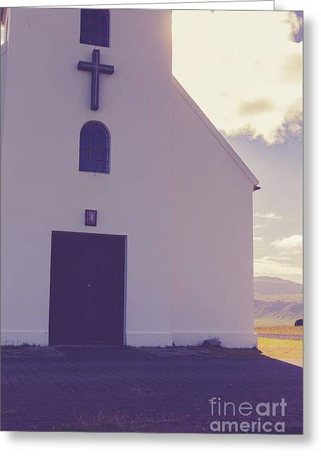 Greeting Card featuring the photograph Church Iceland by Edward Fielding