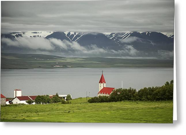 Church In Akureyri Greeting Card