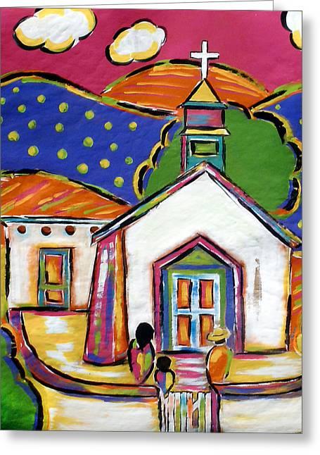Church In Blanco Greeting Card