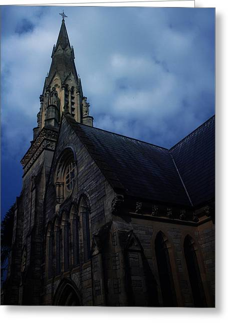Church In Bournemouth - Uk Greeting Card by Cambion Art