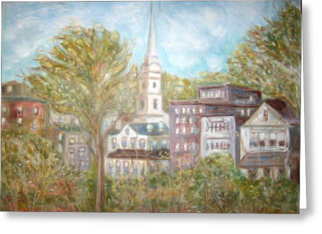 Church In Camden  Maine Greeting Card by Joseph Sandora Jr