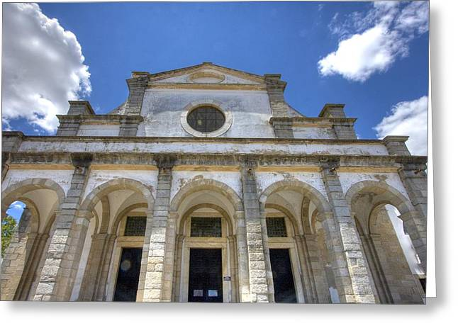 Church In Evora Greeting Card by Andre Goncalves