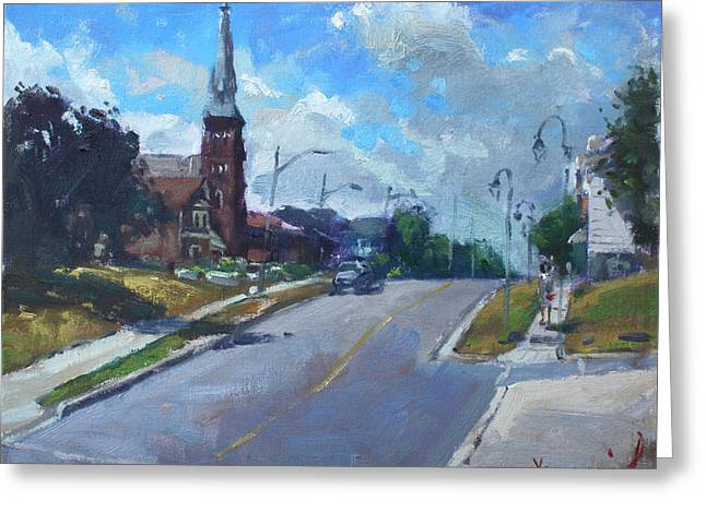 Church In Georgetown Downtown  Greeting Card by Ylli Haruni