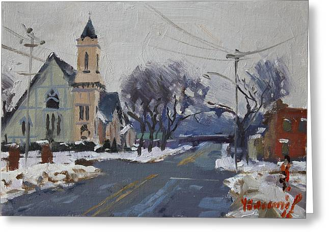 Church In North Tonawanda Greeting Card by Ylli Haruni