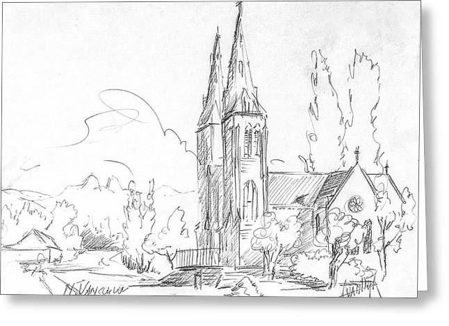 Church In North Vancouver Greeting Card by Dorothy Hilde