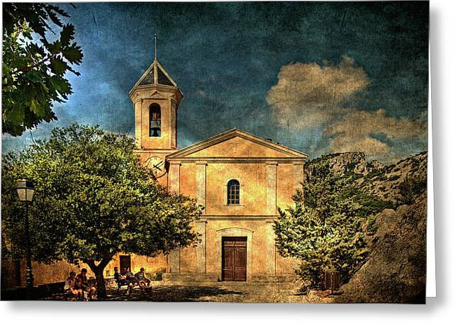 Church In Peillon Greeting Card