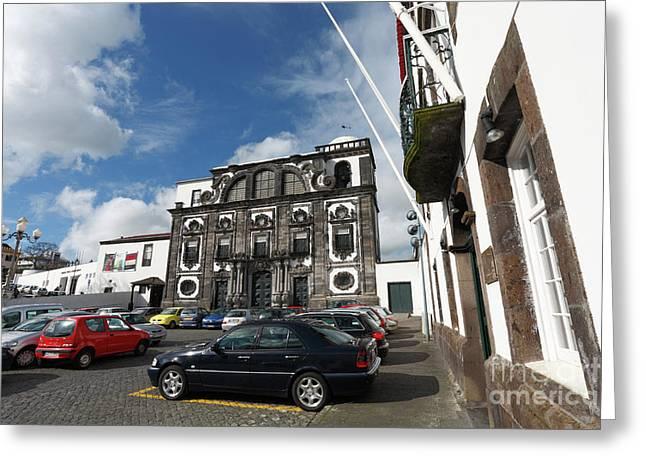 Church In Ponta Delgada Greeting Card by Gaspar Avila
