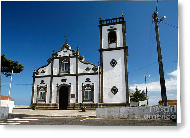 Church In The Azores Greeting Card by Gaspar Avila