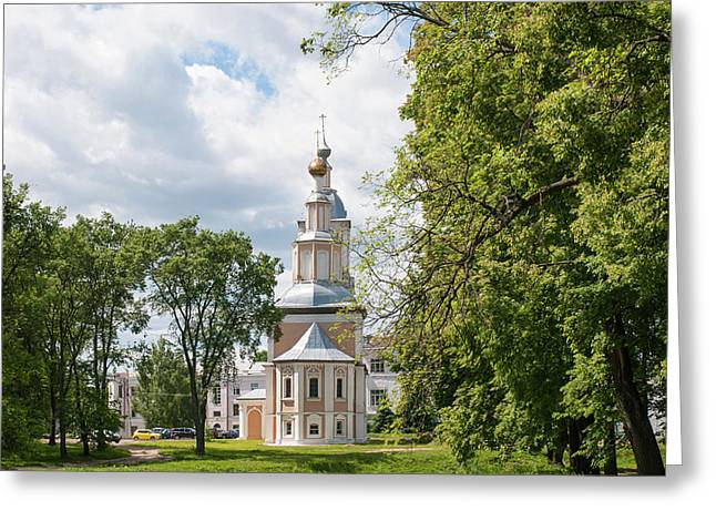 Church In The Town Of Uglich Greeting Card
