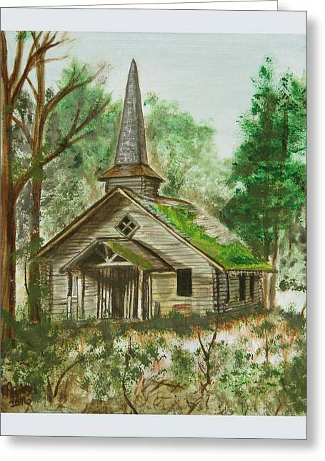 Church In The Wildwood Greeting Card by M Gilroy
