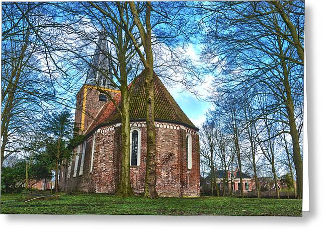 Church In Winsum Greeting Card