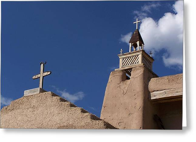 San Jose De Gracia Church, Las Trampas, N.m. Greeting Card
