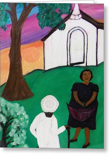 Church Ladies  Greeting Card